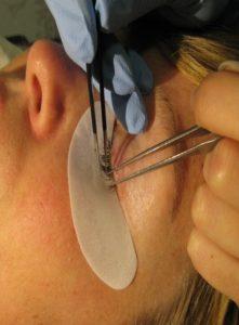 ögonfransförlängning på salong